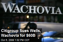 Citigroup Sues Wells, Wachovia for $60B