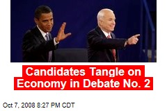 Candidates Tangle on Economy in Debate No. 2