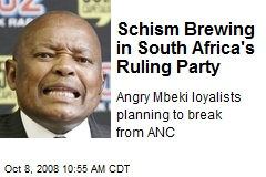 Schism Brewing in South Africa's Ruling Party