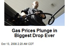 Gas Prices Plunge in Biggest Drop Ever