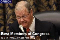 Best Members of Congress