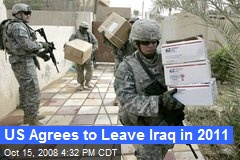 US Agrees to Leave Iraq in 2011