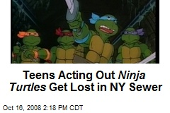 Teens Acting Out Ninja Turtles Get Lost in NY Sewer