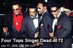 Four Tops Singer Dead At 72