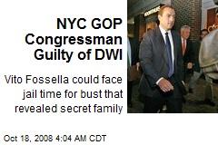 NYC GOP Congressman Guilty of DWI