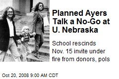 Planned Ayers Talk a No-Go at U. Nebraska