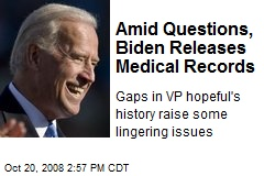Amid Questions, Biden Releases Medical Records
