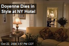 Doyenne Dies in Style at NY Hotel