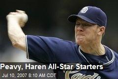 Peavy, Haren All-Star Starters