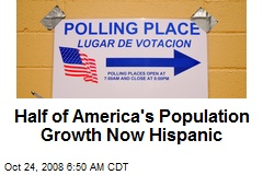 Half of America's Population Growth Now Hispanic