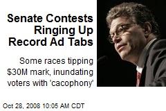 Senate Contests Ringing Up Record Ad Tabs