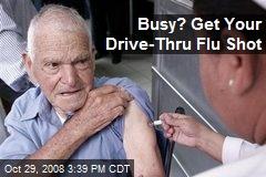 Busy? Get Your Drive-Thru Flu Shot
