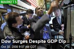 Dow Surges Despite GDP Dip