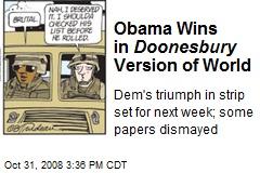Obama Wins in Doonesbury Version of World