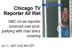 Chicago TV Reporter All Wet