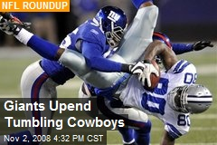 Giants Upend Tumbling Cowboys