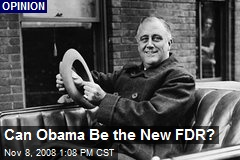 Can Obama Be the New FDR?