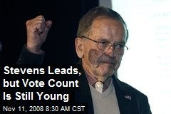 Stevens Leads, but Vote Count Is Still Young