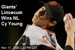 Giants' Lincecum Wins NL Cy Young