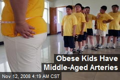Obese Kids Have Middle-Aged Arteries