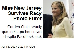 Miss New Jersey Survives Racy Photo Furor