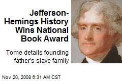 Jefferson- Hemings History Wins National Book Award