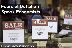 Fears of Deflation Spook Economists