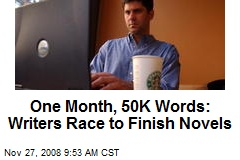 One Month, 50K Words: Writers Race to Finish Novels