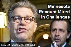Minnesota Recount Mired in Challenges
