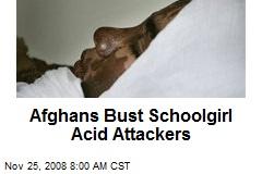 Afghans Bust Schoolgirl Acid Attackers
