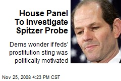House Panel To Investigate Spitzer Probe