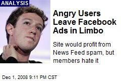 Angry Users Leave Facebook Ads in Limbo