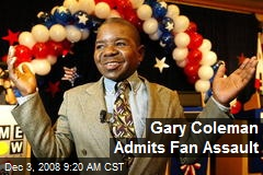 Gary Coleman Admits Fan Assault