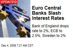 Euro Central Banks Slash Interest Rates