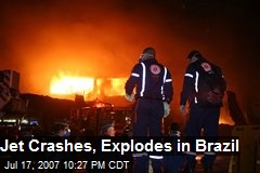 Jet Crashes, Explodes in Brazil