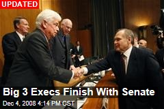 Big 3 Execs Finish With Senate