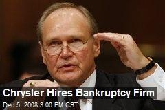 Chrysler Hires Bankruptcy Firm