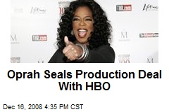 Oprah Seals Production Deal With HBO