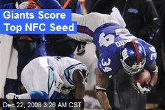 Giants Score Top NFC Seed