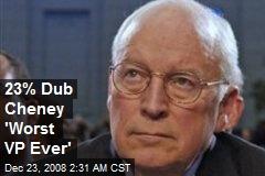 23% Dub Cheney 'Worst VP Ever'
