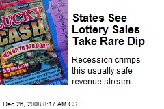 States See Lottery Sales Take Rare Dip