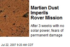 Martian Dust Imperils Rover Mission