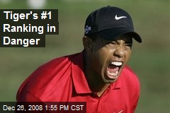 Tiger's #1 Ranking in Danger