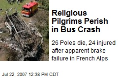Religious Pilgrims Perish in Bus Crash