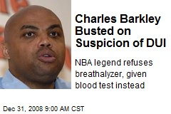 Charles Barkley Busted on Suspicion of DUI