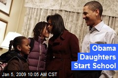 Obama Daughters Start School
