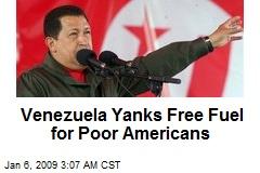 Venezuela Yanks Free Fuel for Poor Americans