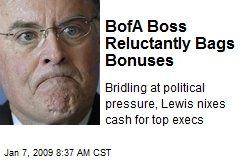 BofA Boss Reluctantly Bags Bonuses