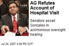AG Refutes Account of Hospital Visit