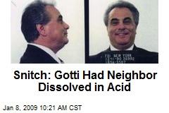Snitch: Gotti Had Neighbor Dissolved in Acid
